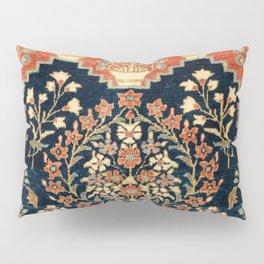 Kashan Poshti  Antique Central Persian Rug Pillow Sham