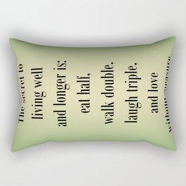 Living Well and Longer Rectangular Pillow