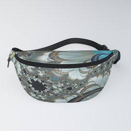 Snow Moons Fractal Fanny Pack