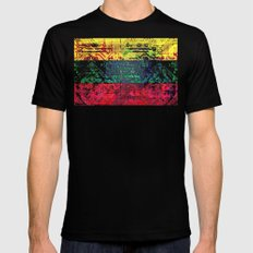 circuit board  lithuania (flag) Mens Fitted Tee Black LARGE