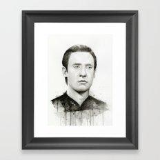 Data TNG Portrait Framed Art Print