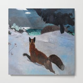 Winslow Homer's Fox Hunt Metal Print