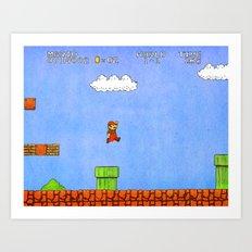 Super Mario Bros. Art Print