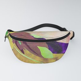 Gold Canna Lily Abstract Watercolor - Floral Art Print Fanny Pack