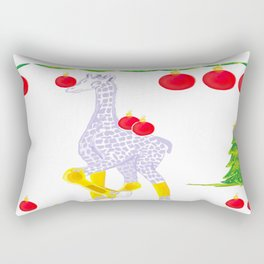 Winter is Coming Midas is Ready - Christmas Lavender Giraffe - Tree Decorating Rectangular Pillow