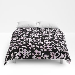 Inverted Black and White Randomness Comforters