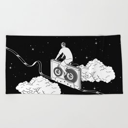 Slow Ride Beach Towel
