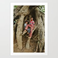 Just Hangin' Out Art Print