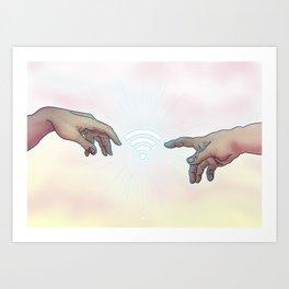 WiFi Art Print
