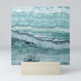 Mystic Stone Aqua Teal Mini Art Print