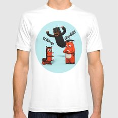 Sniff and Boo Mens Fitted Tee MEDIUM White