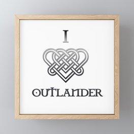I LOVE OUTLANDER - CELTIC HEART Framed Mini Art Print