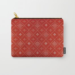 Orange Bohemian Atlas Moroccan Style Design Carry-All Pouch