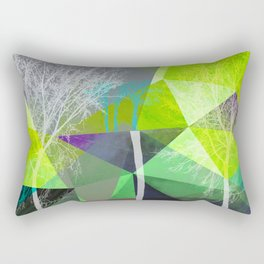 P18 Trees and Triangles Rectangular Pillow
