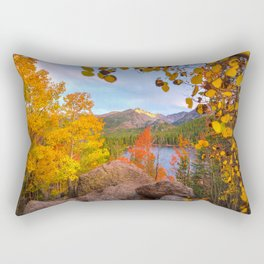 Fall In The Rocky Mountains Rectangular Pillow