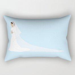 Duchess of Sussex Meghan Markle Royal Wedding Dress Rectangular Pillow