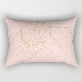 Sheffield map, England Rectangular Pillow