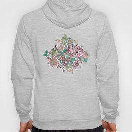 Stylish floral doodles vibrant design Hoody