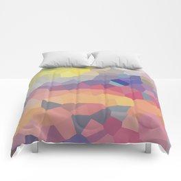 Pastel Geometric Moon Rise Comforters