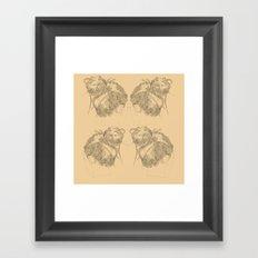 Chignon Framed Art Print