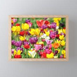 PRETTY TULIPS Framed Mini Art Print