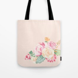 Spring Flowers Pink Tote Bag