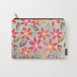 Cute Lilies and Leaves Carry-All Pouch