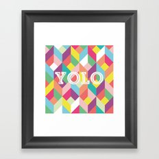 YOLO Geometric Framed Art Print