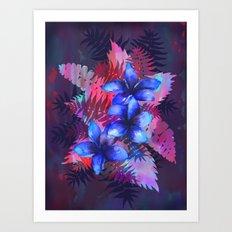 TROPICAL FLOWER {blue plumeria}  Art Print
