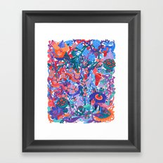 Flower Village Framed Art Print