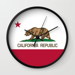 California flag, High Quality Authentic Wall Clock