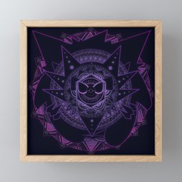 Ghost Mandala Framed Mini Art Print