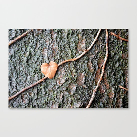 Heart and tree Canvas Print