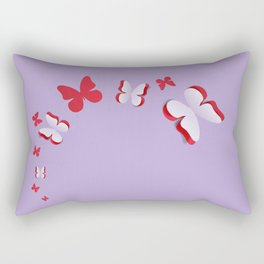 Violet cut out paper butterfly Rectangular Pillow