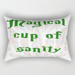 Magical Cup of Sanity Rectangular Pillow