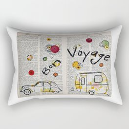 Happy Travels Rectangular Pillow