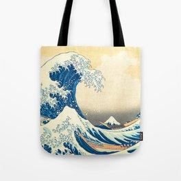 Japanese Woodblock Print The Great Wave of Kanagawa by Katsushika Hokusai Tote Bag