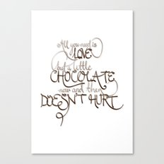 A Little Chocolate Canvas Print