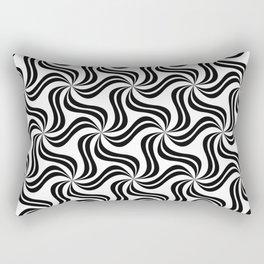 Leaf or Spinning Pattern Rectangular Pillow