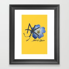 AK, Don't Forget Me Framed Art Print