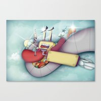 spaceship Canvas Prints featuring Spaceship by Mowis