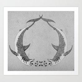 2shark Art Print