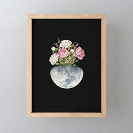 Moon Flower Pot #flower #moon Framed Mini Art Print