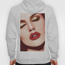 Love And Passion Portrait Of A Woman With Words Hoody
