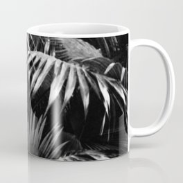 Tropical Botanic Jungle Garden Palm Leaf Black White Coffee Mug