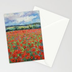 Poppy Painting Stationery Cards