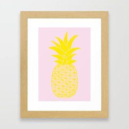 Ananas baby pink Framed Art Print
