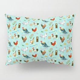 Cute seamless roosters pattern cartoon Pillow Sham
