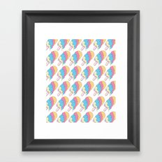 Popsickle Pattern Framed Art Print