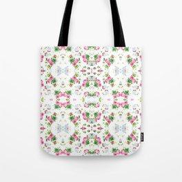 Pink Floral Print  Tote Bag